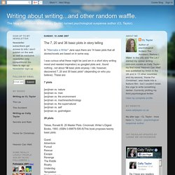 Writing about writing...and other random waffle.: The 7, 20 and 36 basic plots in story telling