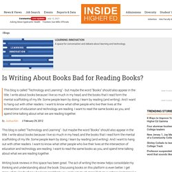 Is Writing About Books Bad for Reading Books?