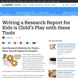 Kids Research Paper Topics, Search Engines, Format and Examples