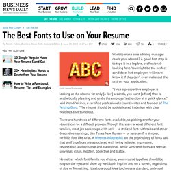 Writing a Resume: Which Fonts Are Best?