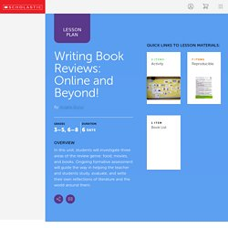 Writing Book Reviews: Online and Beyond!