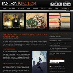 Writing Fight Scenes – What an Editor Wants to See