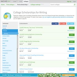 Writing Scholarships - Niche