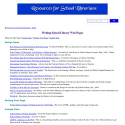 Writing School Library Web Pages