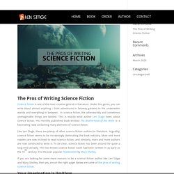 The Pros of Writing Science Fiction - Len Stage