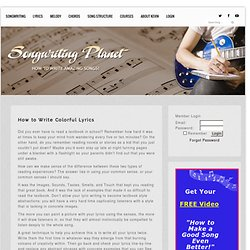 Lyric Writing Secrets | Songwriting Planet