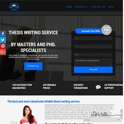 Best Custom Thesis Writing Service Online Organization