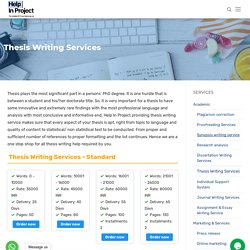Thesis Writing Services, Thesis Writing Help