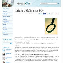 writing a skills based cv