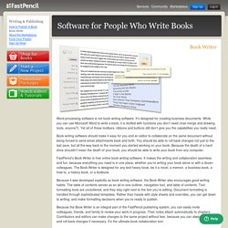 Book Writing Software: Free tools for writing and publishing books and ebooks