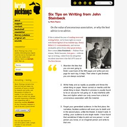 Six Tips on Writing from John Steinbeck