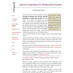 "tips for writing short stories Writing tips – short story fundamentals ""rules"" of the short story: while a list of short story ""rules"" does nothing so much as invite exceptions, we can point to a few characteristics that most successful stories share • short stories can be said to have a beginning, middle, and end • unlike many novels, short stories."