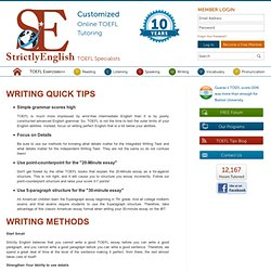 toefl integrated writing