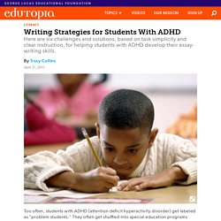 Writing Strategies for Students With ADHD