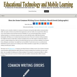Here Are Some Common Writing Errors Students Should Avoid (Infographic)
