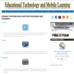 10 Great Writing iPad Apps for Teachers and Students
