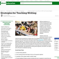 Writing Skills Teaching Guide for ESL/EFL Instructors