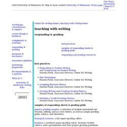 center for writing - teaching with writing - responding & grading