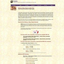 Maya Writing - Writing in Maya Glyphs: A Non-Technical Introduction to Maya Glyphs