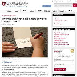 Writing a thank-you note is more powerful than you think