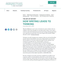How Writing Leads to Thinking