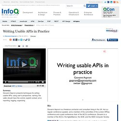 Writing Usable APIs in Practice