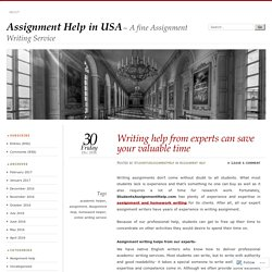 Writing help from experts can save your valuable time