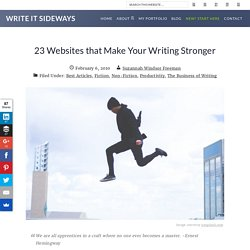 23 Websites that Make Your Writing Stronger - StumbleUpon