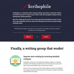 Writing group and online writing workshop for serious writers | Scribophile