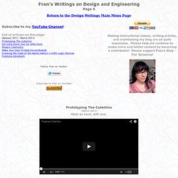 Fran's Writings on Design and Engineering Page 5
