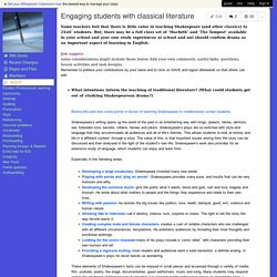 WritingWorks - Engaging students with classical literature