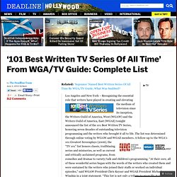'101 Best Written TV Series Of All Time' From WGA/TV Guide: Complete List