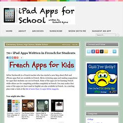 70+ iPad Apps Written in French for Students