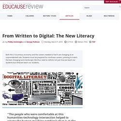 From Written to Digital: The New Literacy