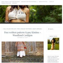 Free written pattern Gypsy Kimino ~ Woodland Cardigan - Crochet Tribe