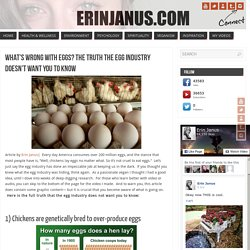 What's Wrong With Eggs? The Truth The Egg Industry Doesn't Want You To Know