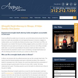 Wrongful Death Attorneys in Chicago