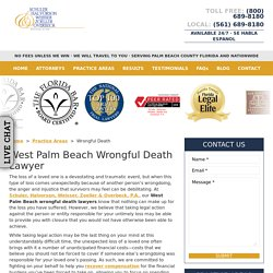 West Palm Beach Wrongful Death Lawyer, Personal Injury Attorneys