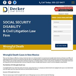 Wrongful Death Cases in New Mexico