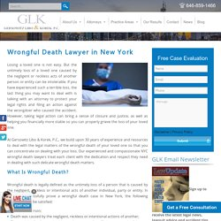 Wrongful Death Lawyer New York - Wrongful Death Claims