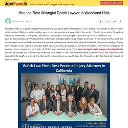 Hire the Best Wrongful Death Lawyer in Woodland Hills