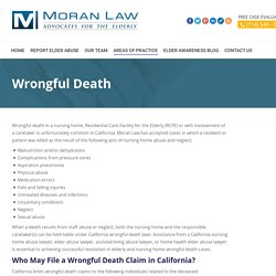 How to File a Wrongful Death Claim in California : Moran Elder Law