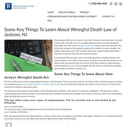 Some Key Things To Learn About Wrongful Death Law of Jackson, NJ