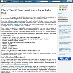 Filing a Wrongful Death Lawsuit After a Tractor Trailer Crash by Dwayne Smith