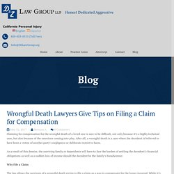 Wrongful Death Lawyers Give Tips on Filing a Claim for Compensation