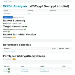 WSDL Analyzer: