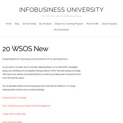 20 WSOS New – InfoBusiness University