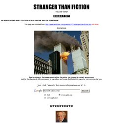 WTC: STRANGER THAN FICTION