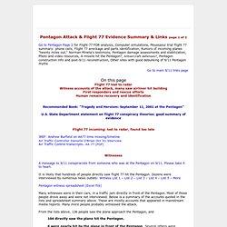 911pentagonflight77evidencesummary - wtc7lies - CometBird