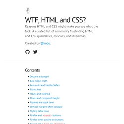 WTF, HTML and CSS?